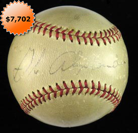 Grover Cleveland Alexander Single-Signed Autograph Baseball - Full JSA