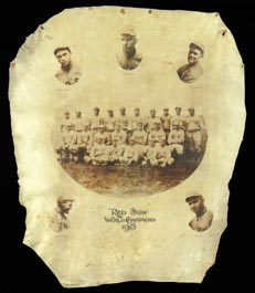 Large 1915 World Champion Boston Red Sox Team Photo on Leather
