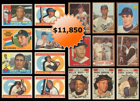 1960-1962 Topps Baseball Partial/Starter Set Run�Sharp!