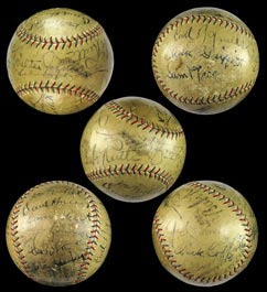 1932 Washington Senators Team-Signed Autographed Baseball With Babe Ruth - Full JSA