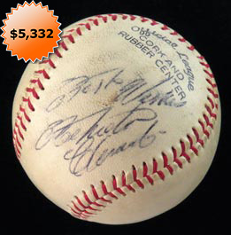 Roberto Clemente Single-Signed autographed Baseball - Full JSA