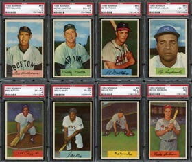 1954 Bowman Baseball Complete PSA Graded Set of (225/225) Cards with #66 Williams--#18 on PSA Registry