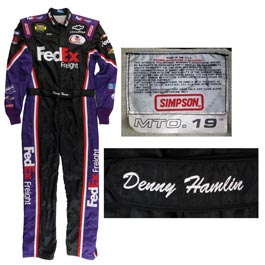 SDenny Hamlin 2006 Subway 500 Race-Worn Fire Suit from Nextel Cup Series Rookie of the Year Season