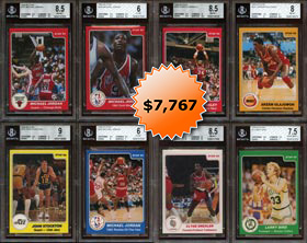 1984-85 Star Basketball BGS Graded Near Set of (283/288) Cards with All Keys