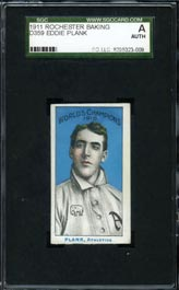 1911 D359 Rochester Baking Eddie Plank SGC Authentic
