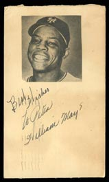 "Willie Mays Signed ""William Mays"" 1951 Government Postcard Extremely Rare! - Full JSA"