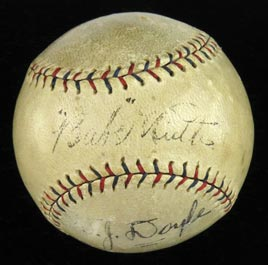 Babe Ruth Signed Autographed 1925 Official American League Ban Johnson Baseball - Full JSA