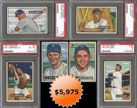 1951 Bowman Baseball Complete Set (324/324) with (4) PSA Graded Stars Including PSA 3 Mickey Mantle & Willie Mays Rookies