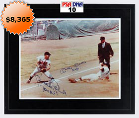 Mickey Mantle & Brooks Robinson Dual-Signed Photograph - Both PSA&#47DNA 10