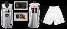 "LeBron James 2001-2003 Northern Ohio ""Shooting Stars"" Tournament Ensemble - MEARS A5"