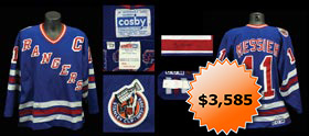 Mark Messier 1992-1993 New York Rangers Signed Game-Worn Game Used Road Sweater Jersey - Full JSA