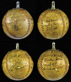 1931 U.S. Tour of Japan Team-Signed Autographed Baseball With Lou Gehrig, Mickey Cochrane and Lefty Grove - Full JSA