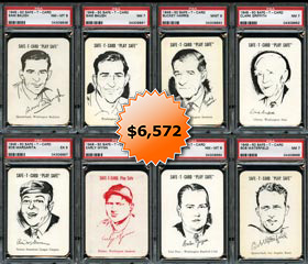 1948 Safe-T-Card Complete Set of (67) Cards with (66) PSA Graded