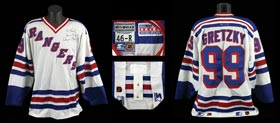 Wayne Gretzky Signed Game-Worn Game Used New York Rangers Practice Sweater Jersey - Full JSA