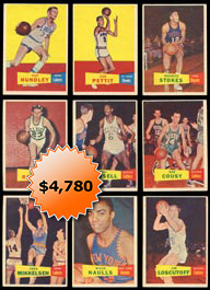 1957-58 Topps Basketball Near Set of (72/80) Cards with (13) PSA Graded