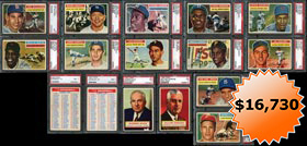 1956 Topps Baseball Complete PSA Graded Set (340/340) Plus (2) Checklists--#46 on Registry