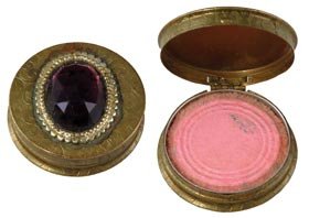 Marilyn Monroe Personal Costume Jeweled Rouge Compact with Original Rosenstein Estate Letter