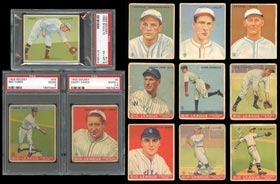 1933 Goudey Baseball Cards Starter Set of (102) Different with (38) PSA Graded Including (8) Hall of Famers