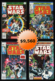 "1977 Star Wars Original Series ""Unread Warehouse Hoard"" Comic Book Lot of (156) with (50) #1"