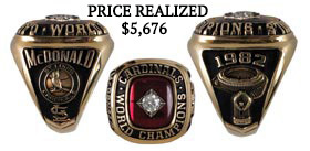 Joe McDonald 1982 St. Louis Cardinals World Champions General Manager Ring