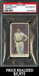 1909-11 E90-1 American Caramel Joe Jackson PSA Authentic