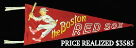 Circa 1950s Boston Red Sox Rare Felt Pennant with Wood Bat Insert