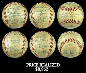 1955 World Champion Brooklyn Dodgers Team-Signed Baseball With Full JSA - Gorgeous!