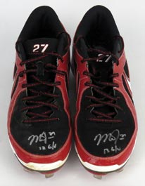 Mike Trout 2013 Signed Game-Worn Shoes Cleats With Trout and JSA LOAs
