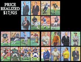 1988-2013 Goal Line Art Gold Edition Complete Set of (280) with all Issued (223) Signed--All #16/100