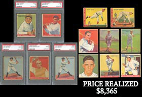 1933 Goudey Baseball Near Set of (237/240) Cards with (5) PSA Graded Stars