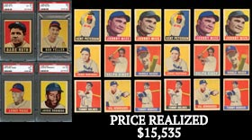 1948-49 Leaf Baseball Near Master Set with (98/98) Base Cards Plus Most Variations & (4) PSA Graded Stars