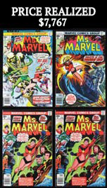 1977 Ms. Marvel Key Early Issue Comic Book Lot of (47) with (24) #1 Inaugural Issues