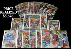 1976-1990 Spider-Man & Spider-Woman Comic Book Hoard of (490) with (25) Marvel Spotlight #32