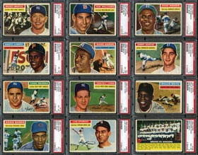 1956 Topps Baseball Complete Set (340) Plus Both Checklists & (7) Team Card Variations Including (36) PSA Graded Stars
