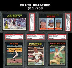 Amazing 1971 O-Pee-Chee Baseball High Grade Complete Set (752) Including (18) PSA Graded Stars