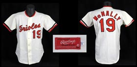 Dave McNally 1974 Baltimore Orioles Game-Worn Game Used Home Jersey