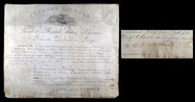 Abraham Lincoln 1865 Signed Autographed Military Commission - Just 5 Weeks Before His Assassination