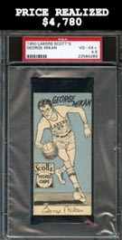 Scarce 1950-1951 Scott's Potato Chips Minneapolis Lakers George Mikan - PSA VG-EX+ 4.5