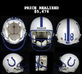 Peyton Manning 1998-1999 Rookie/Second Year Game-Worn Indianapolis Colts Helmet - SCD