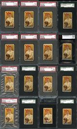 (16) 1888 N162 Goodwin Champions Harry Beecher PSA, SGC & BGS Graded Cards - The First Football Card in History