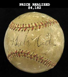 Babe Ruth Signed Autographed Baseball - Full JSA