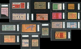 1933-2014 Baseball All-Star Game Full Tickets and Ticket Stubs Complete Run (85 Different)