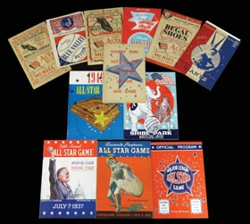 Amazing 1933-2013 Baseball All-Star Game Programs Complete Run (84 Different) Including Key Rarities