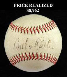 Babe Ruth 1946 Single-Signed Autographed Ball - Full JSA