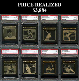 1950 Drake�s Cookies Baseball Complete PSA Graded Set of (36) Cards