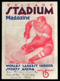 Super Rare 1934 Stanley Cup Finals Clinching Game Program from Chicago Stadium