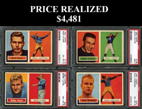 1957 Topps Football Complete Set (154/154) with (25) PSA Graded Including PSA 7 Unitas Rookie