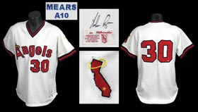 Nolan Ryan 1979 California Angels Signed Game Used Game-Worn Autographed Home Jersey - MEARS A10 and Full JSA