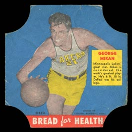 1950 D290-15 Bread for Health George Mikan Basketball Bread Label