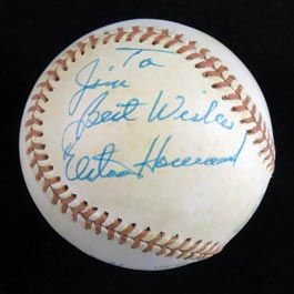 Exceptional Elston Howard Single Signed Autographed Baseball